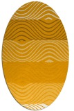 rug #695993 | oval light-orange abstract rug