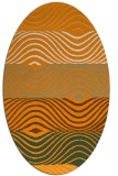 rug #696001 | oval light-orange abstract rug