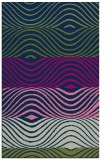 rug #696045 |  green stripes rug