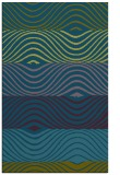 rug #696069 |  green stripes rug