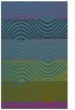 rug #696073 |  pink retro rug