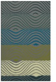 rug #696137 |  green stripes rug