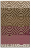 rug #696161 |  mid-brown abstract rug