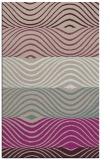 rug #696165 |  pink retro rug