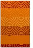 rug #696197 |  orange retro rug