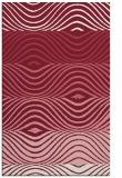 rug #696221 |  pink retro rug