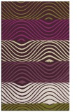 rug #696237 |  purple stripes rug