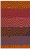 rug #696273 |  red-orange retro rug