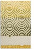 rug #696297 |  yellow retro rug