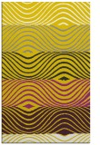 rug #696309 |  yellow retro rug