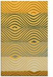 rug #696313 |  yellow abstract rug