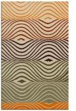 rug #696325 |  orange stripes rug