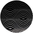 rug #696365 | round black abstract rug