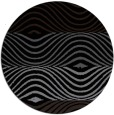 rug #696373 | round black retro rug