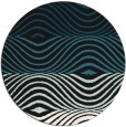 rug #696381 | round black abstract rug