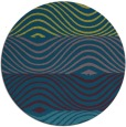 rug #696421 | round blue-green abstract rug