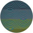 rug #696425 | round pink retro rug