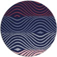 rug #696453   round pink abstract rug