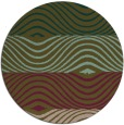 rug #696481 | round brown retro rug