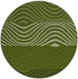 rug #696485 | round green abstract rug