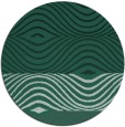 rug #696493 | round green abstract rug