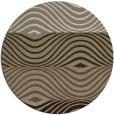 rug #696501 | round white stripes rug