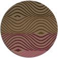 rug #696513 | round mid-brown stripes rug