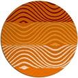 rug #696553 | round orange stripes rug