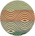 rug #696565 | round yellow retro rug