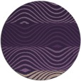 rug #696593 | round purple retro rug