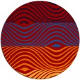 rug #696601 | round red rug