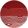 rug #696609 | round red stripes rug