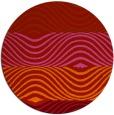 rug #696613 | round pink retro rug