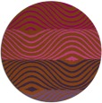 rug #696625 | round red-orange retro rug