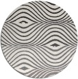 rug #696633 | round white abstract rug