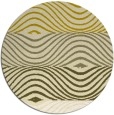 rug #696649 | round yellow retro rug