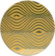 rug #696665 | round yellow abstract rug