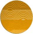 rug #696697   round light-orange abstract rug