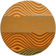 rug #696705 | round light-orange stripes rug