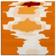 rug #697257   square orange abstract rug