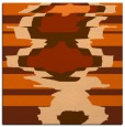 rug #697325 | square red-orange rug