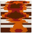 rug #697333 | square red-orange abstract rug