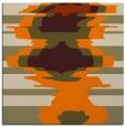 rug #697381   square orange graphic rug