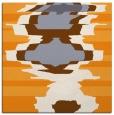 rug #697413 | square light-orange abstract rug