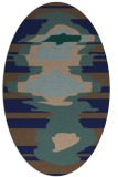 rug #697449 | oval blue-green abstract rug