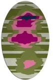 rug #697455 | oval abstract rug