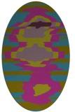 rug #697481 | oval pink graphic rug