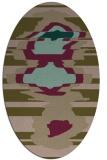 rug #697537 | oval mid-brown rug