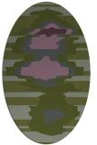 rug #697553 | oval green abstract rug