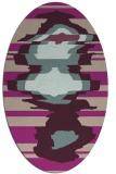 rug #697573   oval pink abstract rug